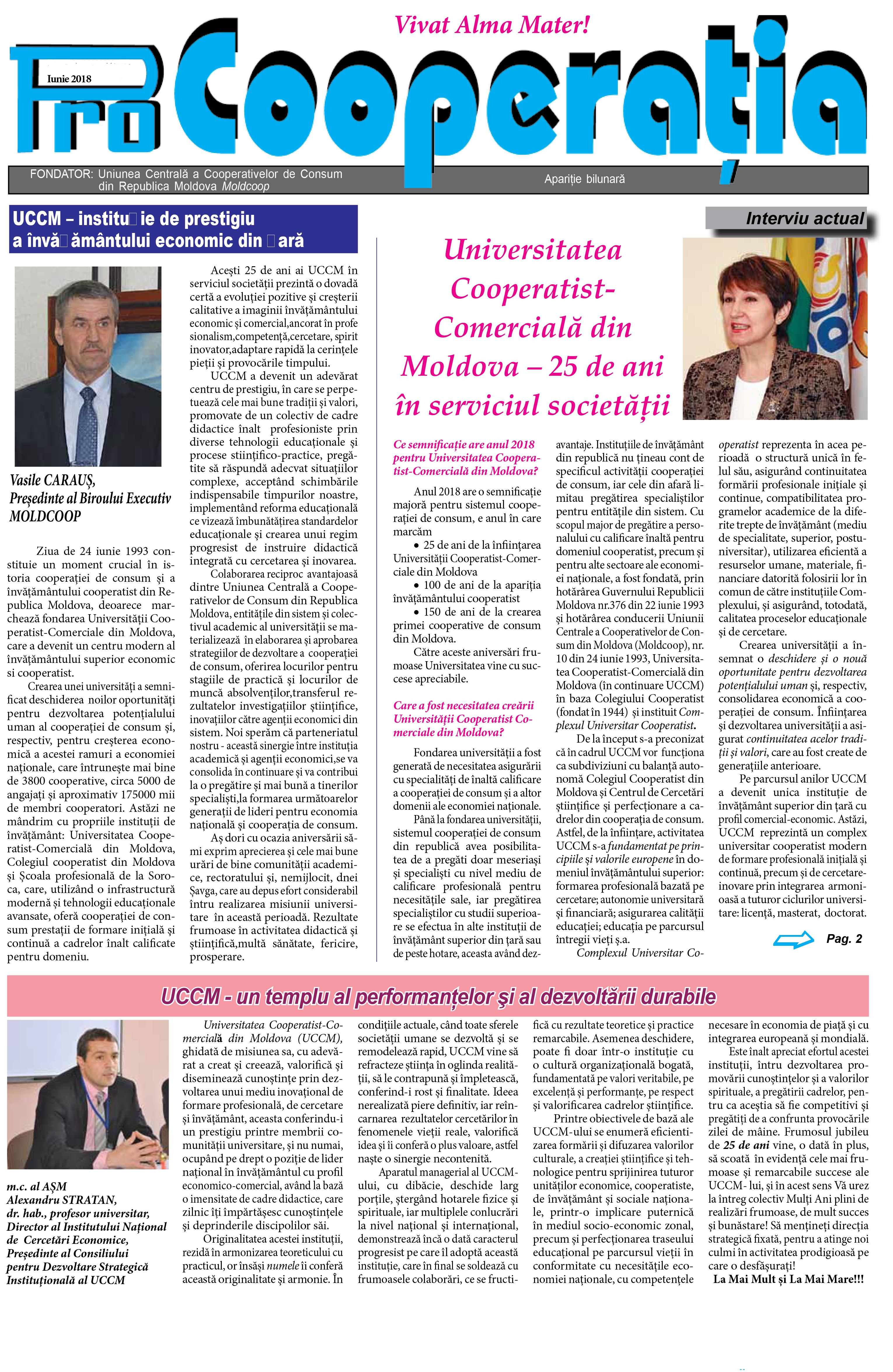 """Publicația Periodică """"Pro Cooperația"""""""